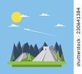 flat design of chi chen itza... | Shutterstock .eps vector #230641384