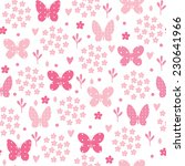 seamless pattern with butterfly ... | Shutterstock .eps vector #230641966