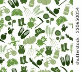 farm icons green seamless... | Shutterstock .eps vector #230650054
