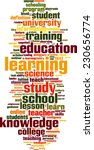 learning word cloud concept.... | Shutterstock .eps vector #230656774