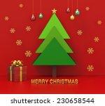 merry christmas | Shutterstock . vector #230658544