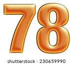 collection of orange numbers 7  ...   Shutterstock . vector #230659990