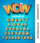 funny colorful alphapet font to ... | Shutterstock .eps vector #230666074