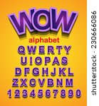 funny colorful alphapet font to ... | Shutterstock .eps vector #230666086
