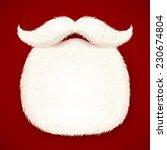 realistic vector santa's beard...