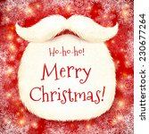realistic vector santa's beard... | Shutterstock .eps vector #230677264