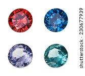 set of colored gemstones... | Shutterstock . vector #230677939
