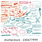 set of hand drawn graphic signs.... | Shutterstock .eps vector #230677999