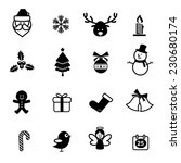 set of christmas icons isolated ... | Shutterstock .eps vector #230680174