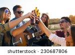 outdoor portrait of group of...   Shutterstock . vector #230687806