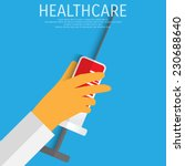 vector healthcare illustration. ... | Shutterstock .eps vector #230688640