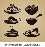 common food and everyday meal ... | Shutterstock .eps vector #230690668