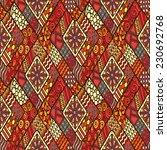 original drawing tribal doddle... | Shutterstock .eps vector #230692768