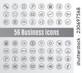 56 business icons | Shutterstock .eps vector #230697568