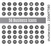56 business icons | Shutterstock .eps vector #230697580