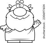 a cartoon illustration of a... | Shutterstock .eps vector #230697604