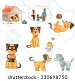 a cute red and yellow dog with... | Shutterstock .eps vector #230698750