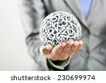 Numbers Forming A Sphere On Th...