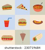 restaurant icon collection ... | Shutterstock .eps vector #230719684