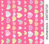 seamless pink festive... | Shutterstock .eps vector #230720710