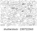 hand drawn food vector... | Shutterstock .eps vector #230722363