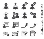 learning icon | Shutterstock .eps vector #230738116