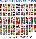 world country flags 3d and... | Shutterstock . vector #230738143