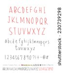 alphabet and numbers   hand...   Shutterstock .eps vector #230739298