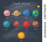 doodle planets collection on... | Shutterstock .eps vector #230754250