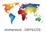 world map with colorful... | Shutterstock .eps vector #230761270