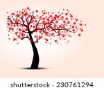 the silhouette of cherry trees | Shutterstock .eps vector #230761294