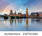 London With Rainbow   Houses Of ...