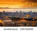 view to jerusalem old city.... | Shutterstock . vector #230766040