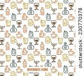 vintage beverages icons pattern ... | Shutterstock .eps vector #230770378