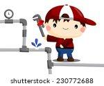 fixing pipe | Shutterstock .eps vector #230772688