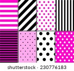 set of seamless big and small... | Shutterstock .eps vector #230776183