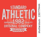 Athletic Sport Typography  T...
