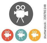movie camera icon | Shutterstock .eps vector #230781148