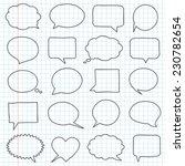 hand drawn speech bubbles on a... | Shutterstock .eps vector #230782654
