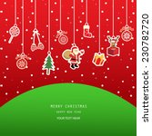 christmas greeting card  red... | Shutterstock .eps vector #230782720