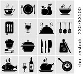 cooking and kitchen icons | Shutterstock .eps vector #230783500
