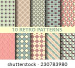 10 retro geometric seamless... | Shutterstock .eps vector #230783980