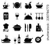 vector kitchen icons   Shutterstock .eps vector #230786773