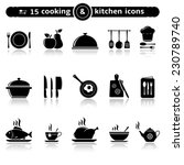 cooking and kitchen icons | Shutterstock .eps vector #230789740