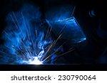 employee welding using mig mag... | Shutterstock . vector #230790064