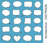 hand drawn speech bubbles | Shutterstock .eps vector #230790328