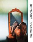 Постер, плакат: Girl and mirror Portrait