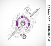 abstract technology business... | Shutterstock .eps vector #230799538