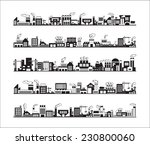industry icons over white... | Shutterstock .eps vector #230800060