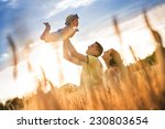 happy pregnant family with...   Shutterstock . vector #230803654